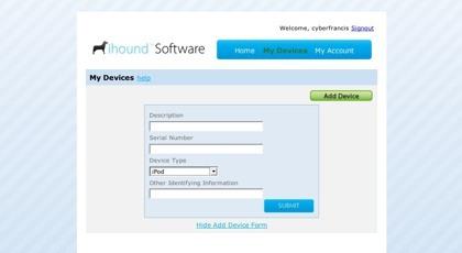 Ihound software, monitorizando las localizaciones de los dispositivos robados