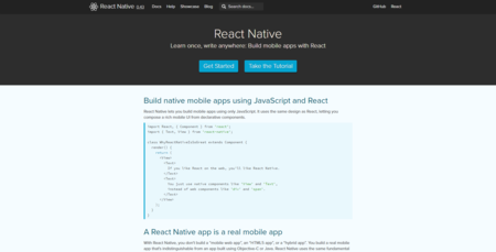 React Native A Framework For Building Native Apps Using React