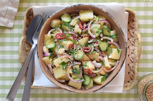 Ensalada de melón refrescante: receta saludable para sacar la fruta del postre