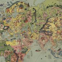 Las naciones del mundo y sus estereotipos, vistos por Japón en este alucinante mapa de 1932