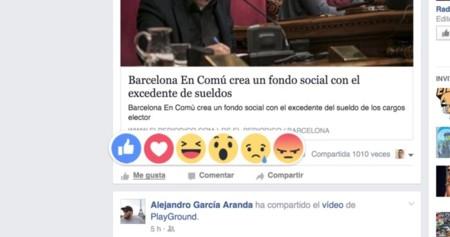 Estudio: las reacciones de Facebook tan solo suponen el 3% de las interacciones
