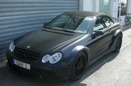 Más negro mate, Mercedes-Benz CLK 63 AMG DTM Cabrio