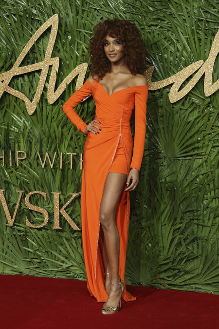 british fashion awards alfombra roja Jourdan Dunn