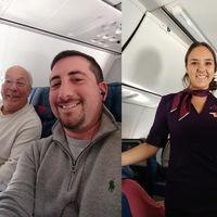 Amor de padre: compró boletos para seis vuelos en Navidad, y así acompañar a su hija azafata durante las fiestas