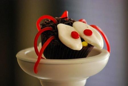 cupcakes araña halloween