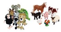 Jugando con muñecos de animales: ¿cuál le gusta más?