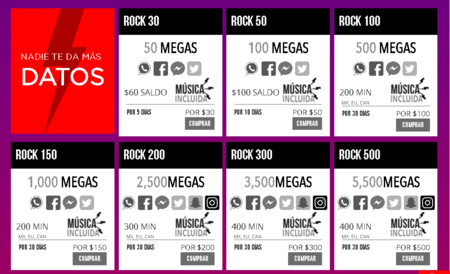 Virgin Mobile Paquete Rock