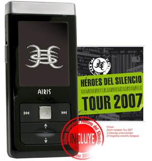 Reproductor MP3 de Héroes del Silencio