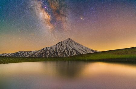 Glory Of Damavand And Milky Way C Masoud