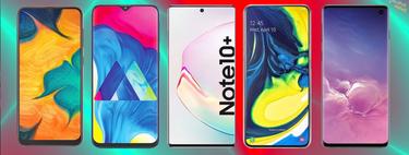 Samsung Galaxy Note 10 y Note 10+, así encajan dentro del catálogo completo de móviles Samsung en 2019