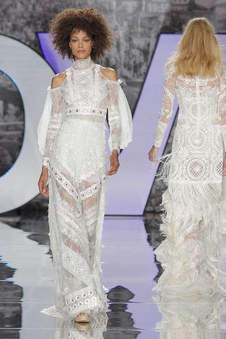 Vestidos Novia Boho Nueva Coleccion Tendencias 2018 Barcelona Bridal Week 8