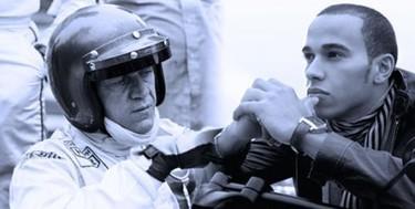 Lewis Hamilton y Steve McQueen, rivales para Tag Heuer