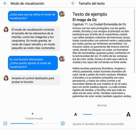 Cómo cambiar el tamaño del texto y los elementos en pantalla