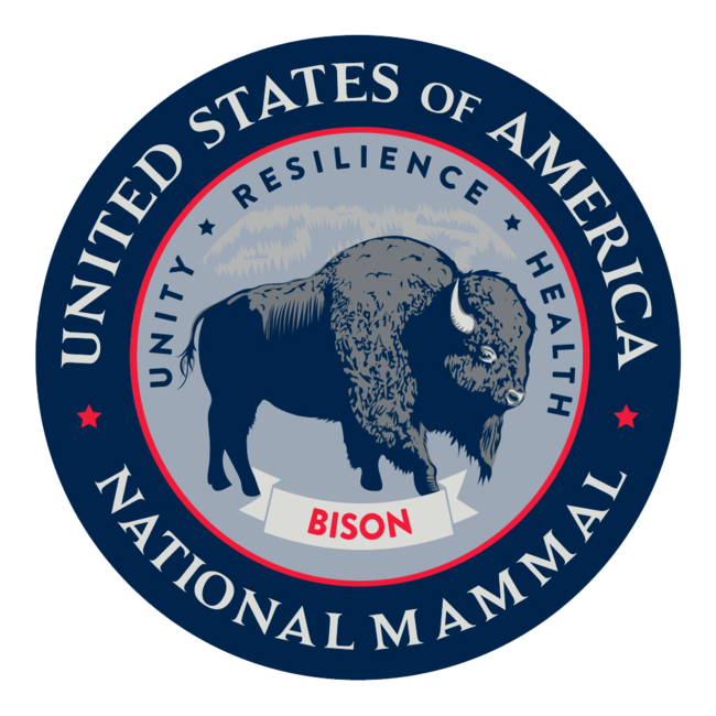 Bison National Mammal Seal