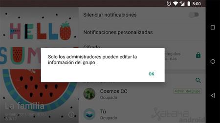WhatsApp para Android ahora te permite elegir quién puede editar la información de un grupo