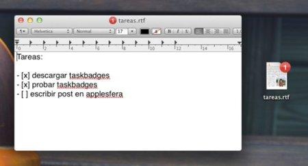 TaskBadges, convierte tus archivos de texto en listas de tareas