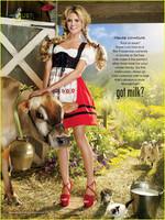 Heidi Klum también bebe leche