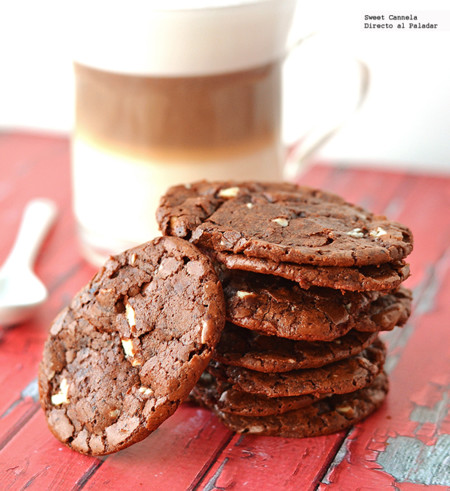Galletas de doble chocolate. Receta