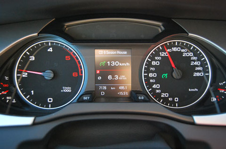 Audi A4 a 130 km/h