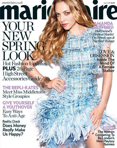 Amanda Seyfried sexy y primaveral en la portada de Marie Claire UK