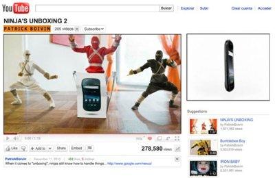 La imagen de la semana: Traviesos ninjas destruyen Youtube por un Nexus S
