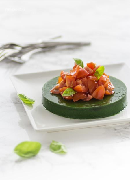Receta de ensalada molecular. Cocina de diseño en tu mesa