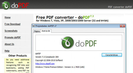 doPDF virtual printer