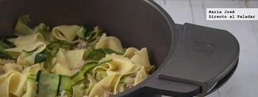 Receta de parpadelle con calabacín y atún, con la que disfrutaréis de un delicioso (y ligero) plato de pasta