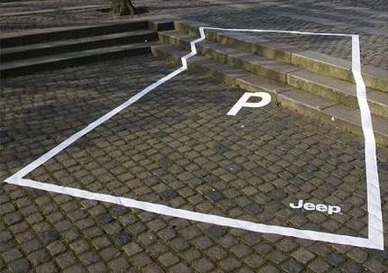 Las curiosas plazas de aparcamiento sólo para Jeep