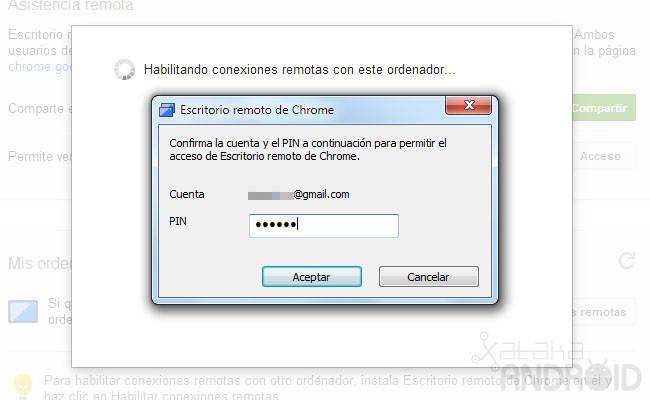 Chrome remote desktop - Escritorio remoto ...