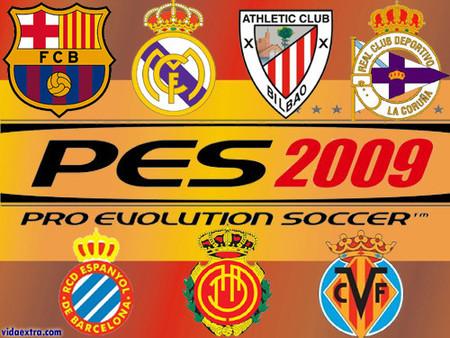 Menudo desastre, sólo siete equipos españoles en el 'PES 2009'