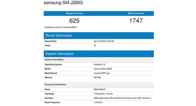 Benchmark Android-OS Go Samsung