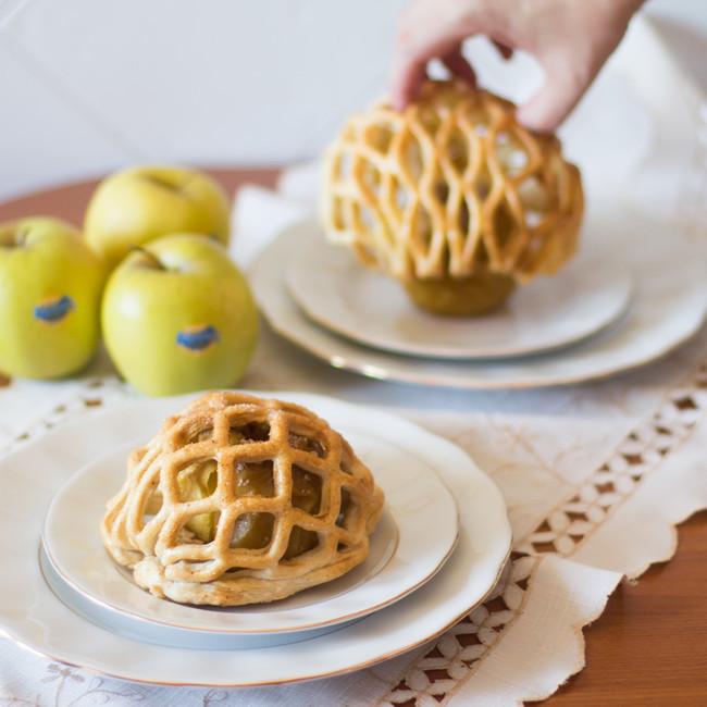 Manzanas Asadas Enrejadas Manzanas Hojaldre Receta