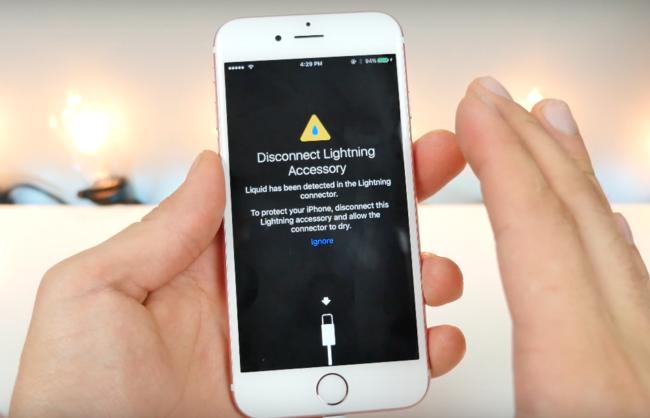 650 1200 iOS 10 podría avisarte si hay agua en el puerto lightning de tu iPhone