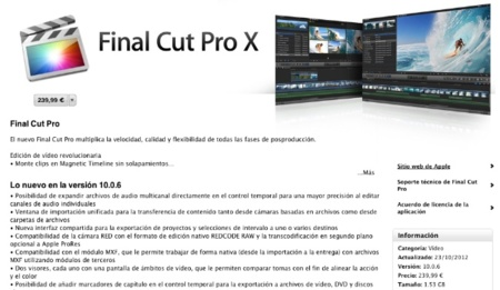 Final Cut Pro X, Motion 5 y Compressor 4 se actualizan