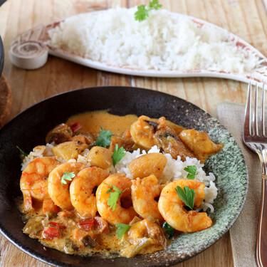 Receta de curry de langostinos: un delicioso plato de marisco, ligeramente picante
