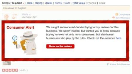 Yelp declara la guerra a las reviews falsas