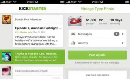 Kickstarter lanza su aplicación oficial para iOS