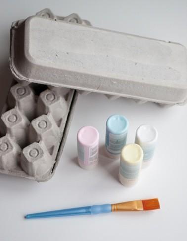 cajas huevos materiales