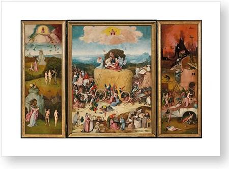 """""""Tríptico del carro de heno"""", impresión oficial del Museo del Prado"""
