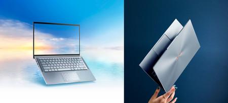 """ASUS ZenBook 13S y ASUS ZenBook 14: marcos de récord, peso mínimo y peculiar """"notch"""" hacia fuera en los nuevos portátiles de ASUS"""
