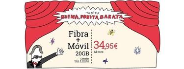 Tarifa Buena, Bonita y Barata de Lowi: fibra 100Mb + móvil con 20GB y llamadas sin límite por 34,95 euros/mes