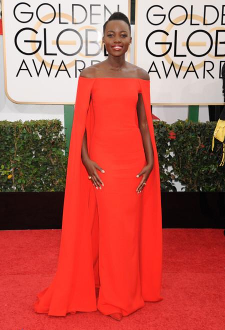 Lupita Nyongo Globos Oro 2014 Ralph Lauren