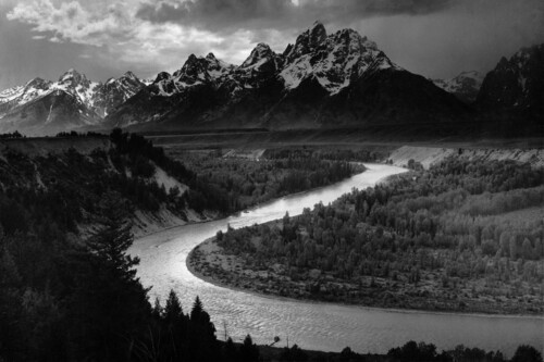 Fotos míticas de la historia: 'The Grand Tetons and the Snake River', 1942: la naturaleza mística de Ansel Adams