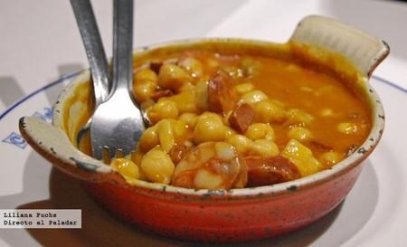 Restaurante Casa Pedro. Cazuela de garbanzos con boletus