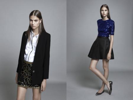 Blusa y falda con lentejuelas de Adolfo Dominguez catalogo Otoño Invierno 2013 2014 -2