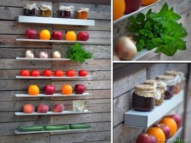 Fruit-Wall, almacenando frutas y verduras de un modo decorativo y original