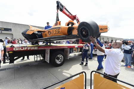 Alonso Accidente Indianapolis 2019