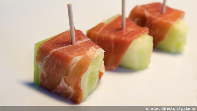 melón con jamón - presentación