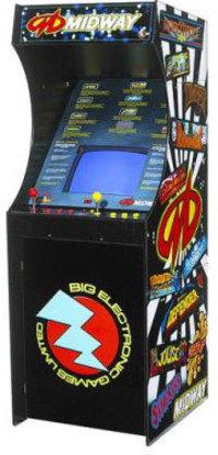 Máquina arcade de tamaño real que permite jugar a multitud de juegos